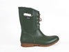 Olive green mid-height lace-fronted wellington boot - side view - Ellie Dickins Shoes