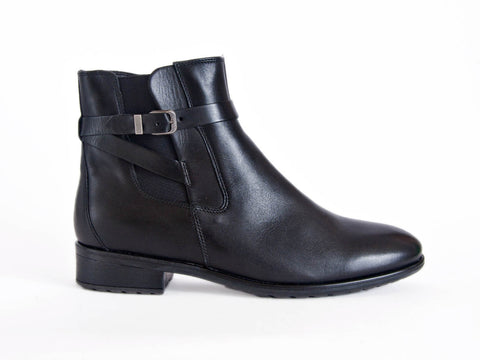 Ara strap detail leather ankle boot
