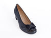 Ara bow detail black patent leather court