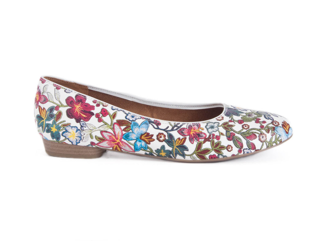 Ara High Soft flower print leather pump
