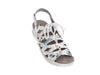 Lace-up leather sandal