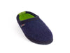 Navy wool slipper