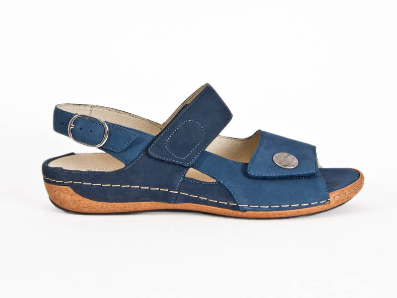 Heliett 2 strap leather sandal