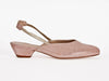 large ladies slingback pink leather comfortable small shoe size
