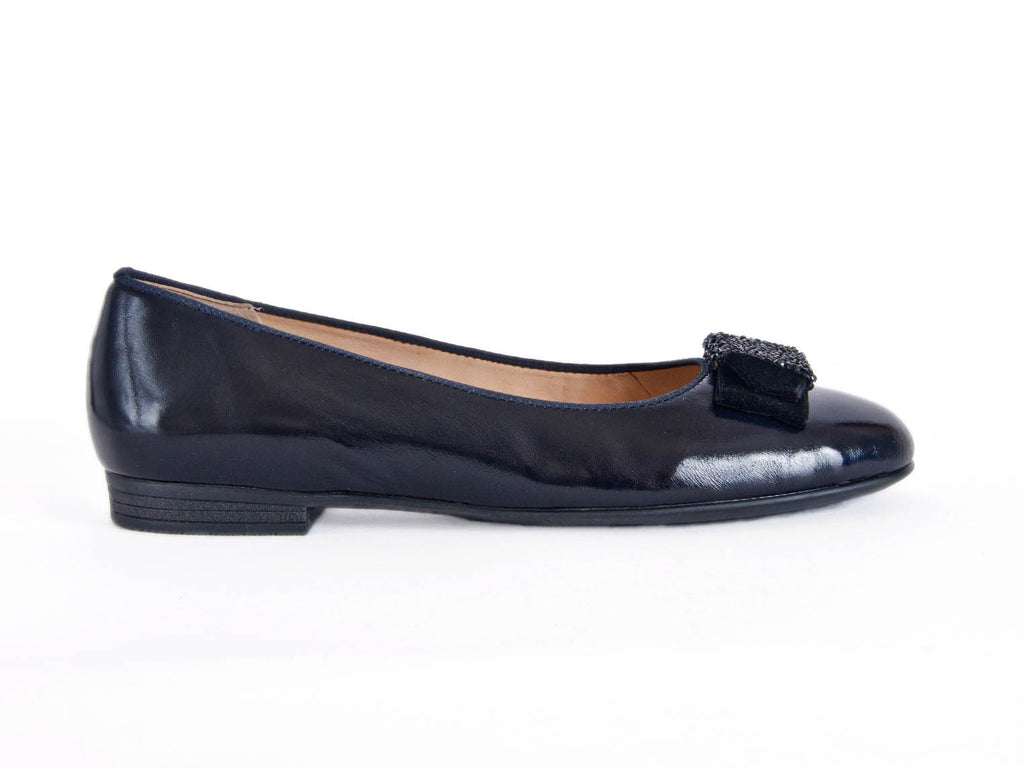 Ara soft leather pump bow