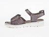Ara silver grey metallic leather sandal