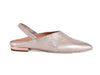 Pale pink metallic leather slingback mule