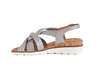 Ara soft weave silver leather sandal