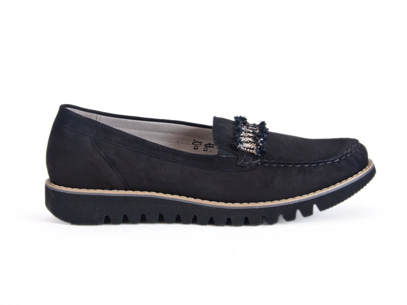 Habea nubuck loafer with trim