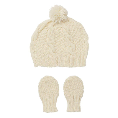 Acorn Beanies XS / Cream Acorn Vines Infant Beanie Mitten Set