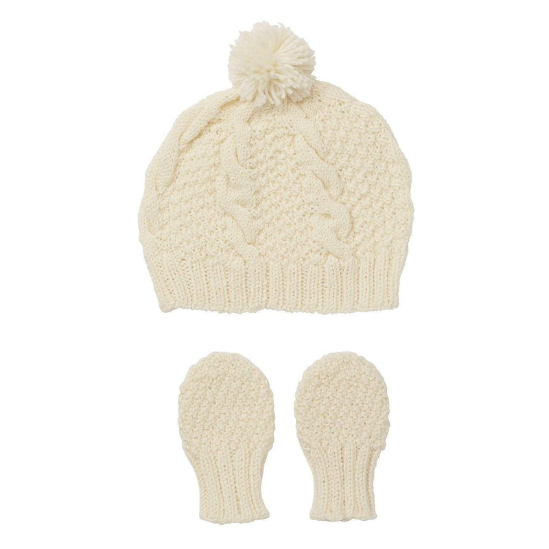 Acorn Beanies XS / Grey Acorn Vines Infant Beanie Mitten Set