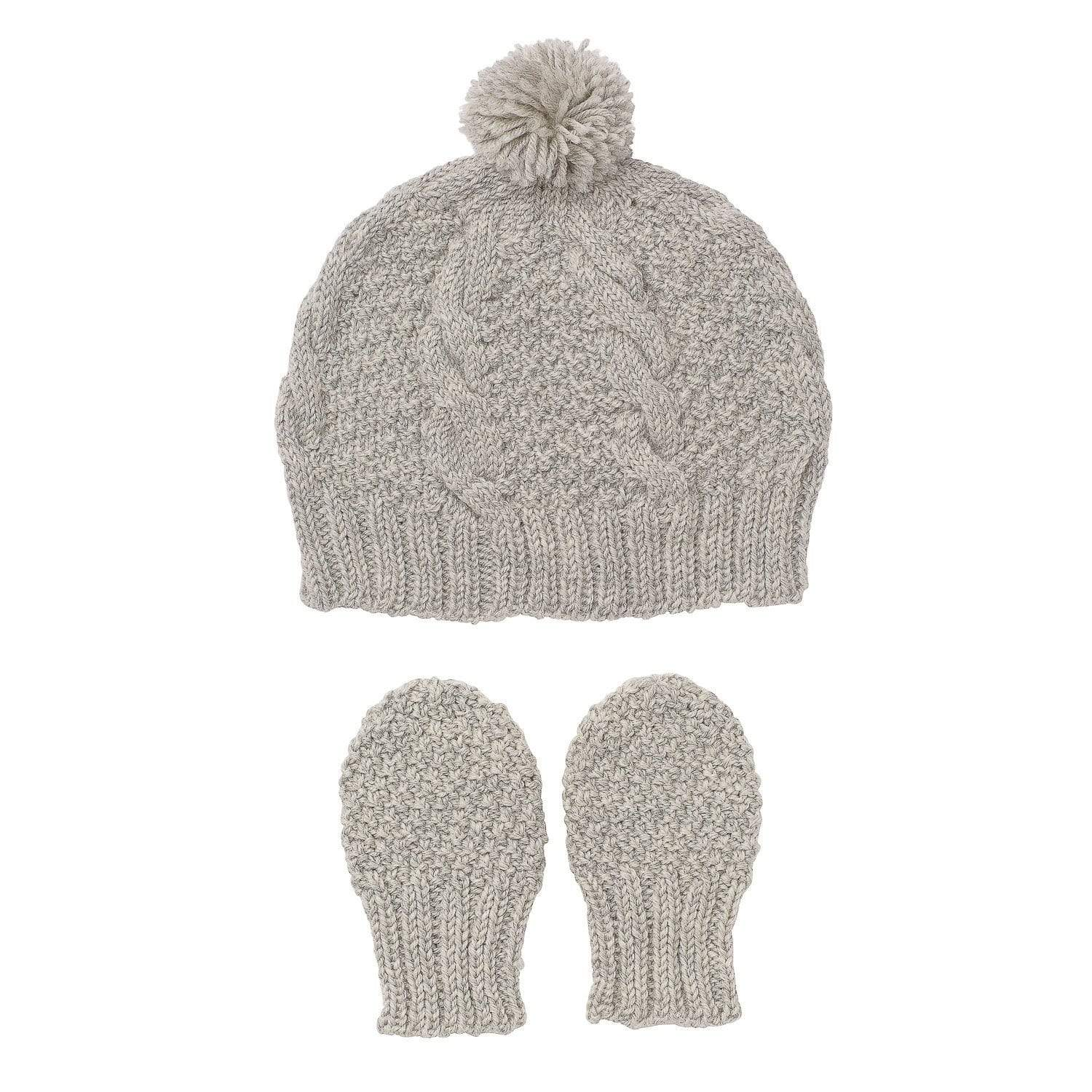 Acorn Vines Infant Beanie Mitten Set