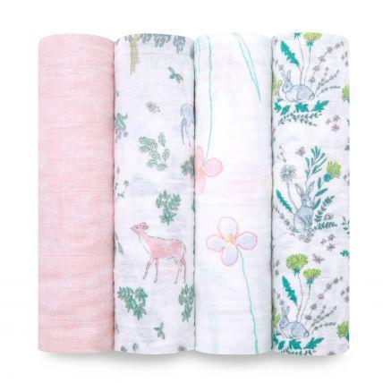 Aden & Anais Wraps Around the world Aden & Anais 4-Pack Classic Swaddles