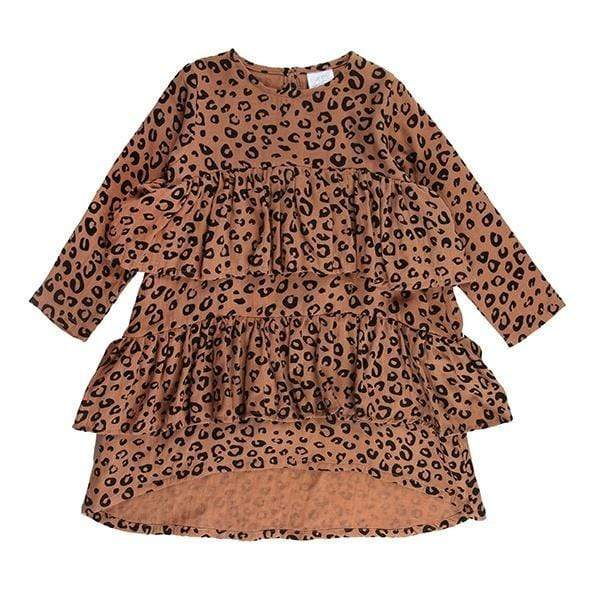 Anna Dress - Rust Leopard