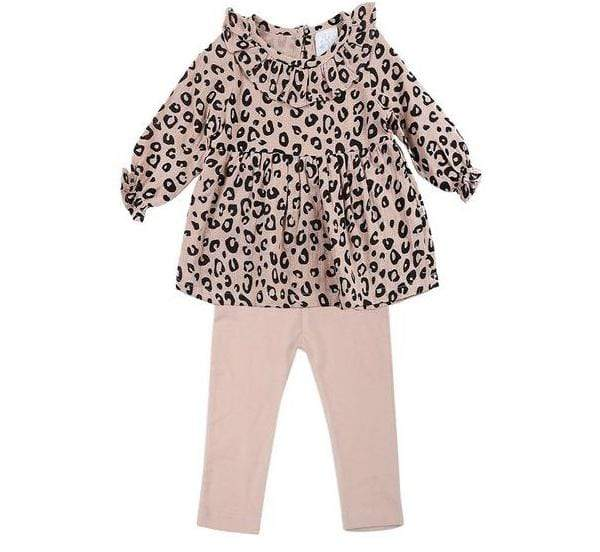 Alex & Ant Playsuit & Jumpsuit Ellie Set - Blush Leopard