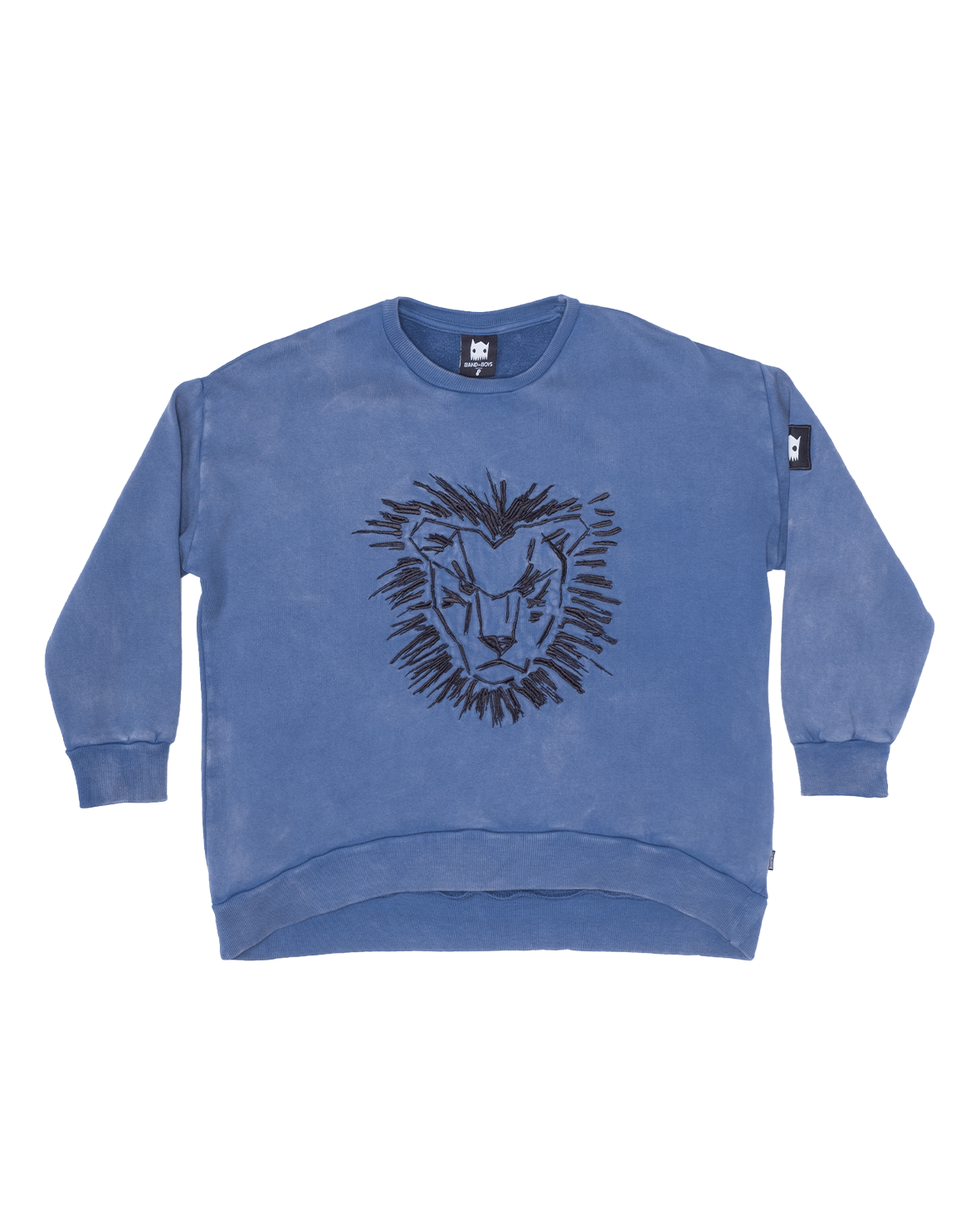 Band of boys Jumpers Lion Mane Oversized Jumper - Vintage Blue