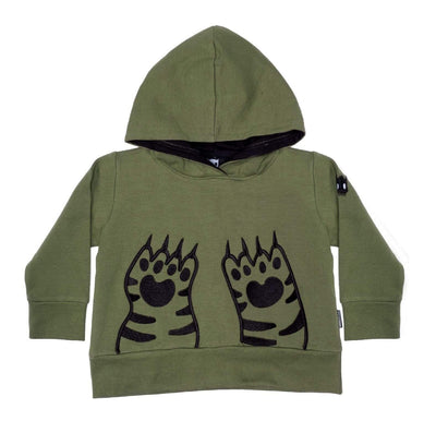 Band of boys Jumpers Organic Paws A-Line Hood - Green