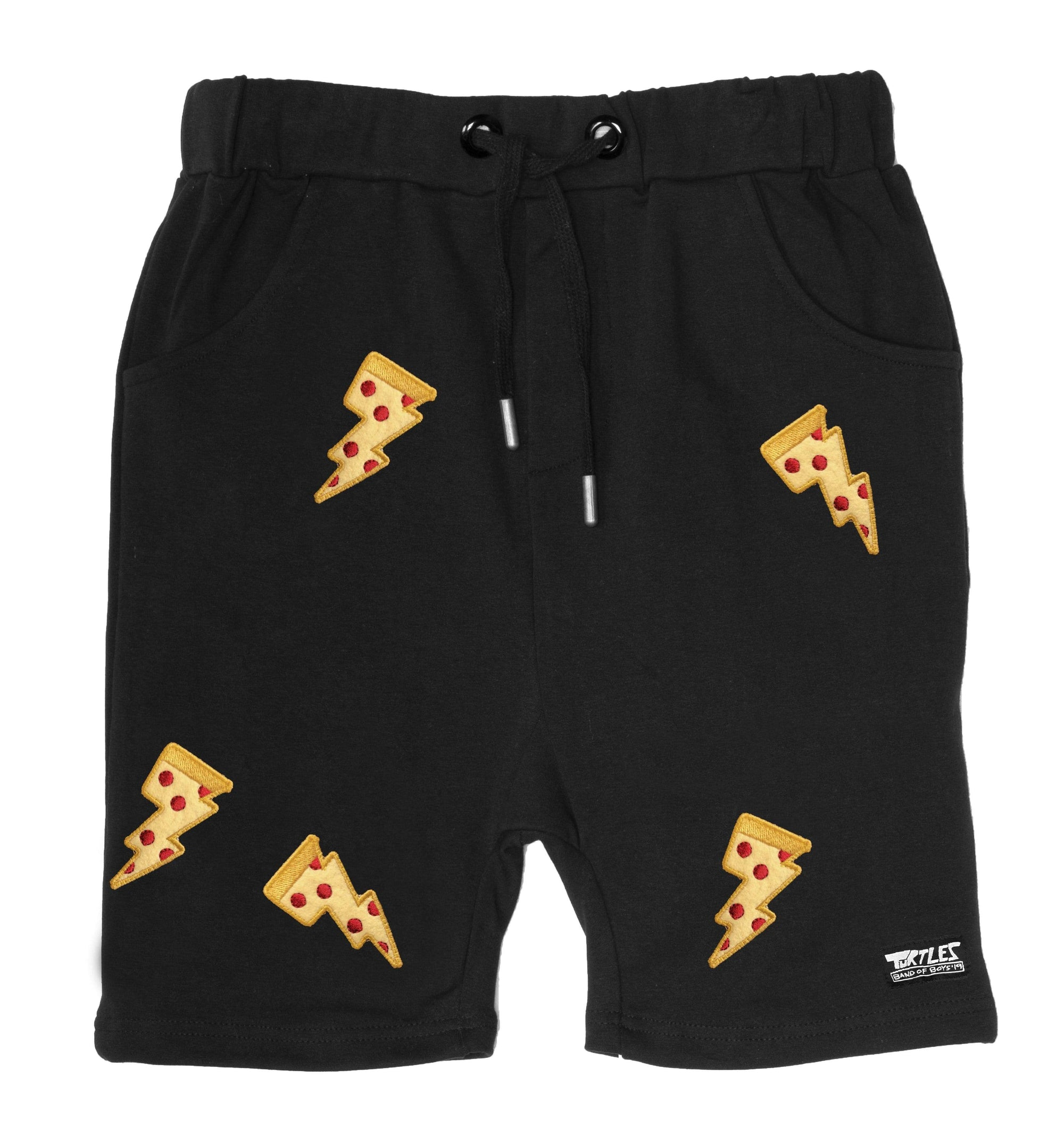 BOB X TMNT Pizza Patches Relaxed Short - Black
