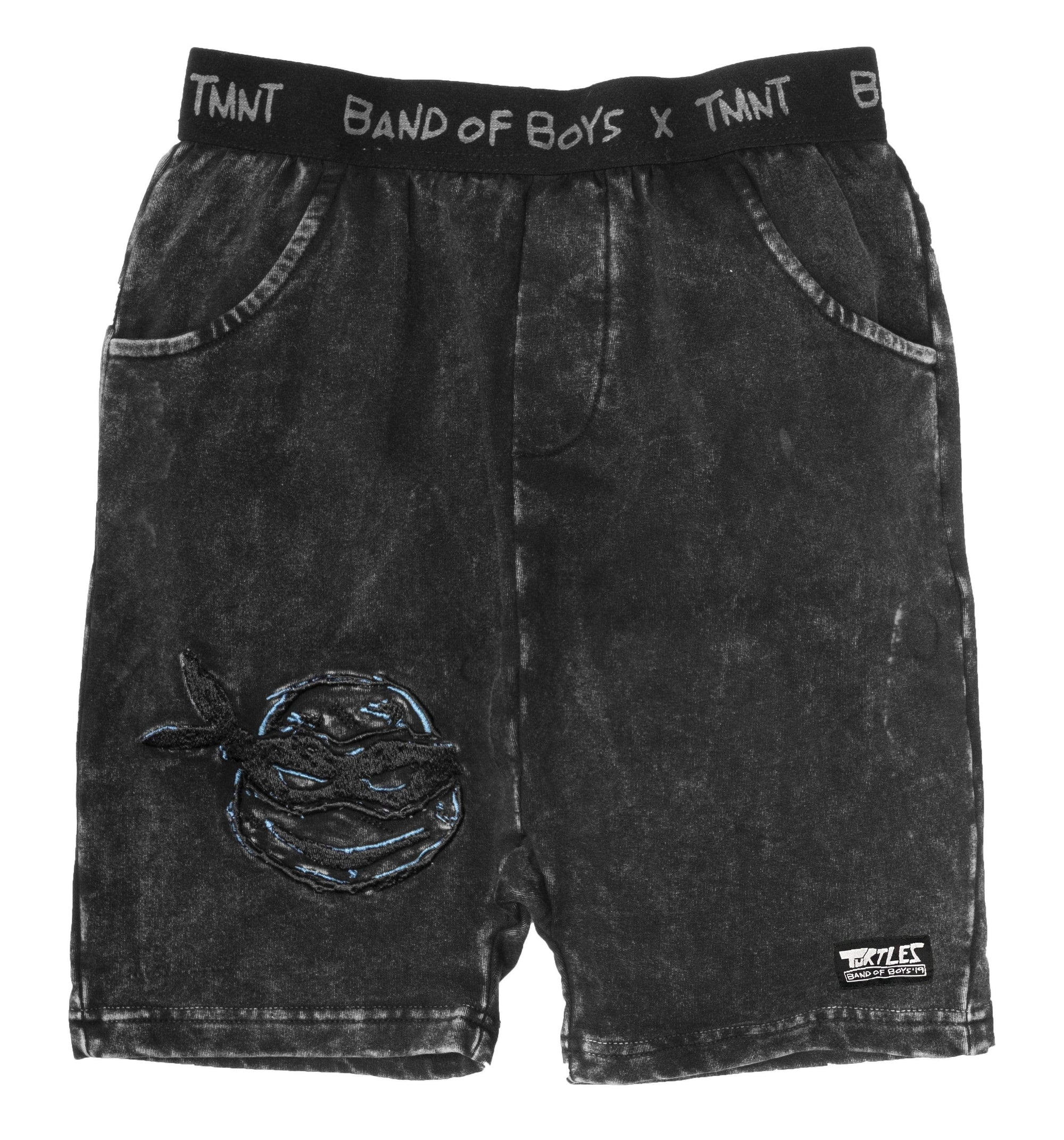 Band of boys Shorts 2 BOB X TMNT Turtle Face Short - Vintage Black