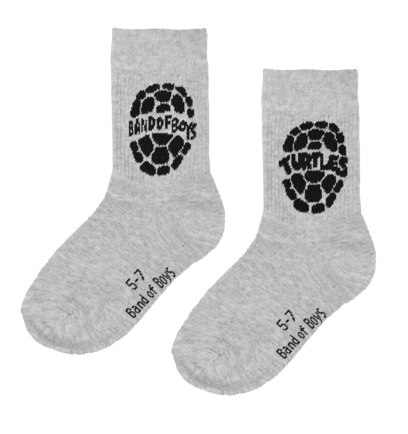Band of boys Socks 2-4 BOB X TMNT Socks - 2PK Black/Grey