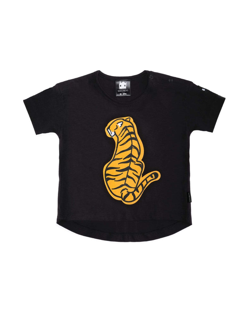 Band of Boys Organic Baby Tee Tiger Back -  Black