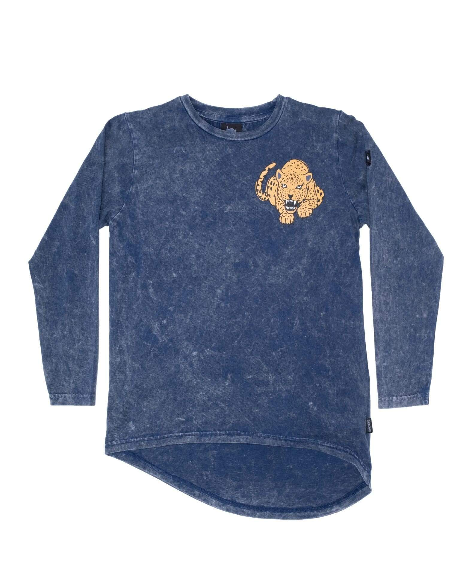 Band of boys T Shirt Fierce Leopard LS Tee - Vintage Blue