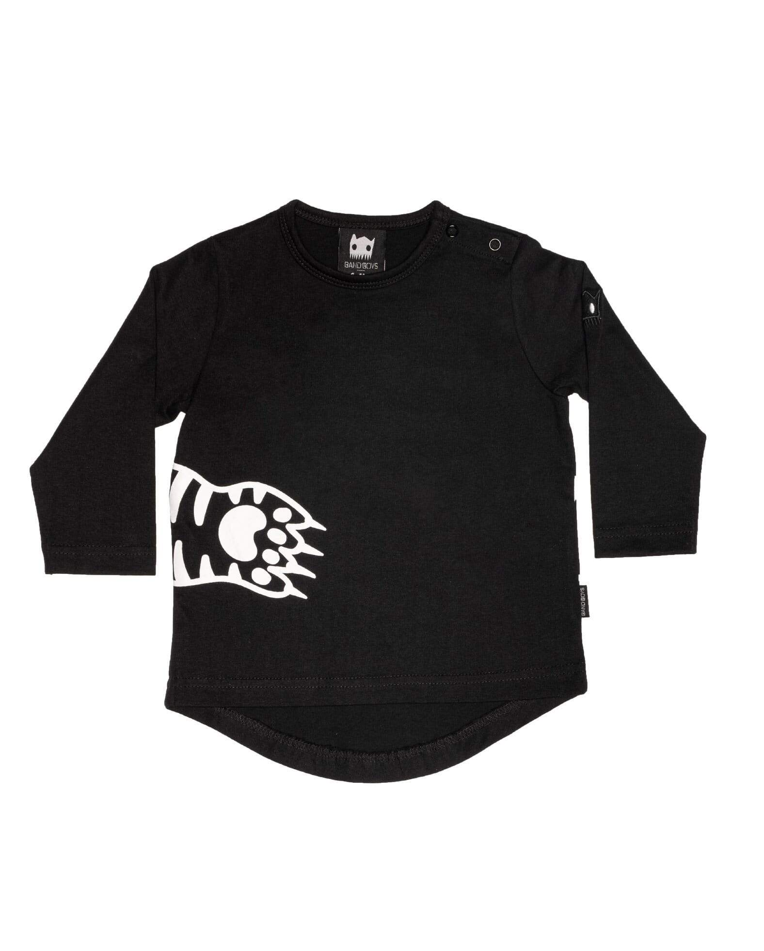 Band of boys T Shirt Organic Paws LS Tee - Black
