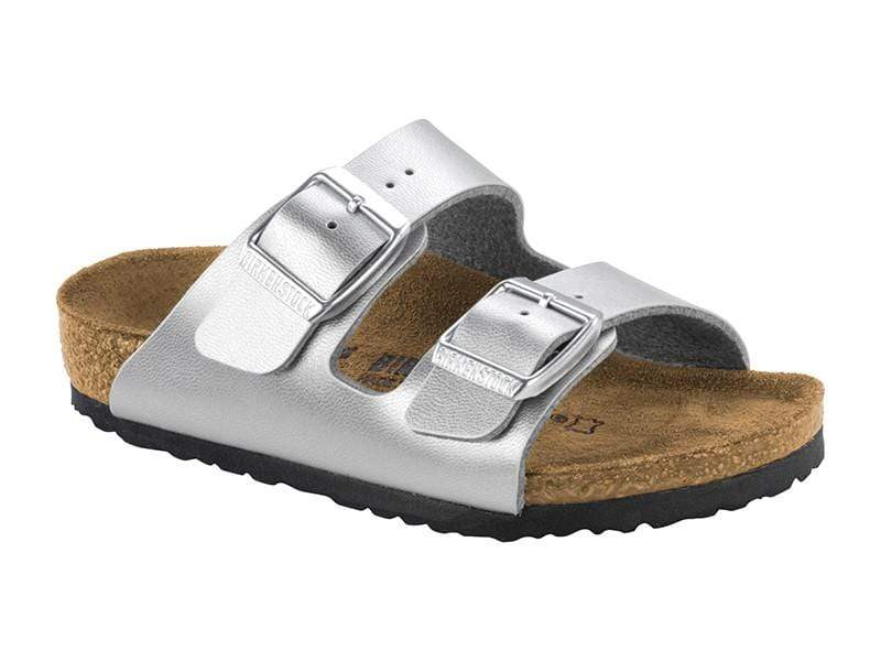 Birkenstock Shoes 28 Arizona Kids BF - Silver Narrow
