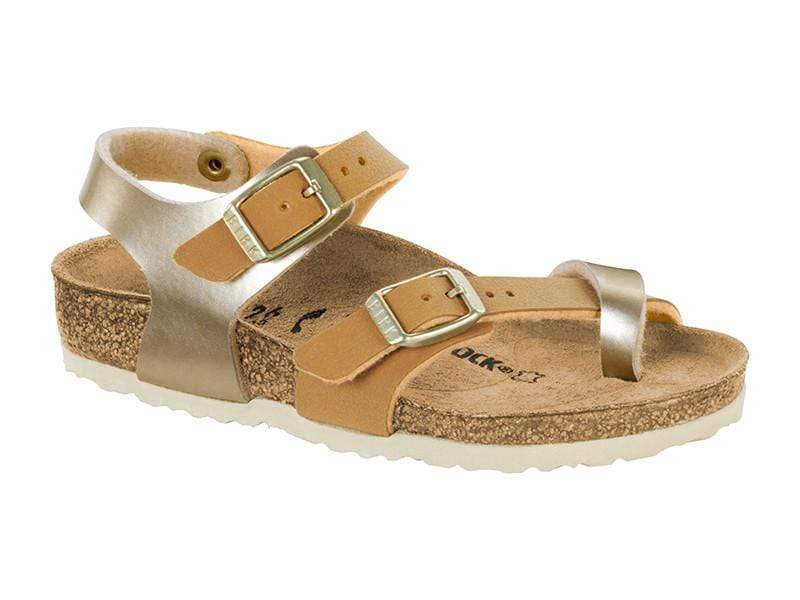 Birkenstock Shoes 28 Taormina Kids BF - Soft Met Gold Brown