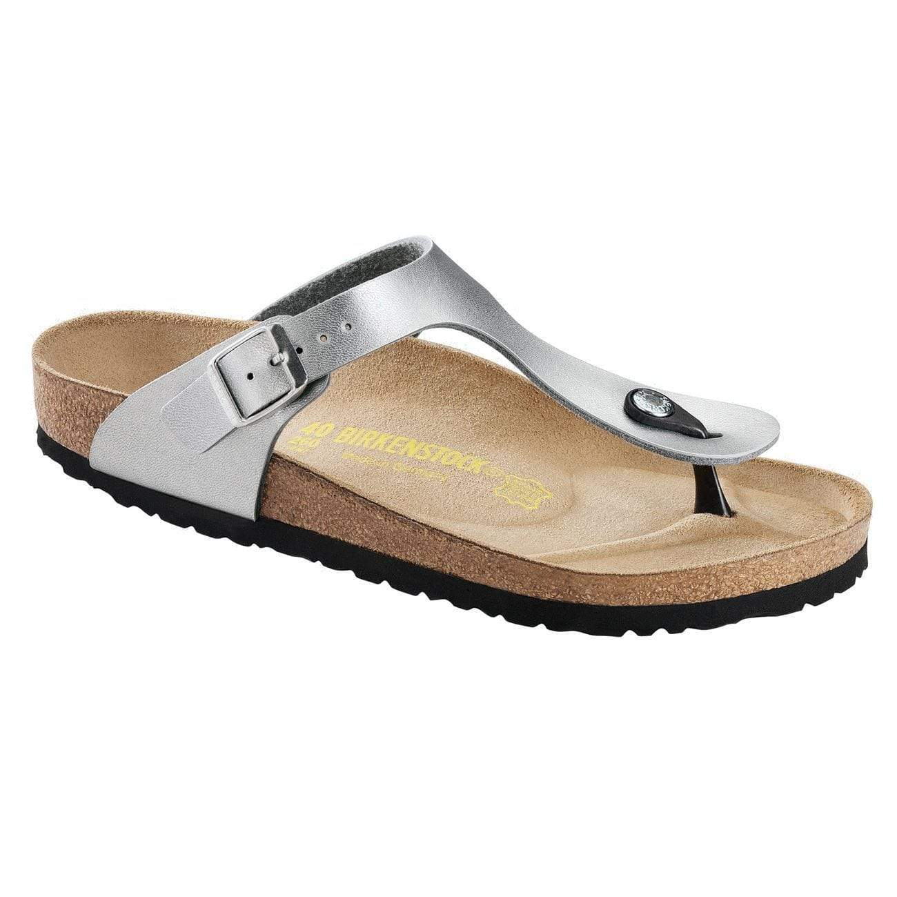 Birkenstock Shoes 30 Gizeh Kids BF - Silver Narrow