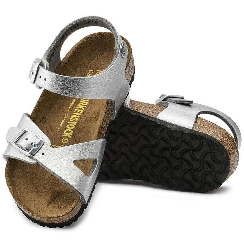 Birkenstock Shoes Rio Kids BF - Silver Narrow