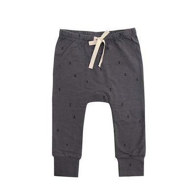 Buck & Baa General 6/12M / Smoke Buck & Baa Leggings