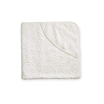 Cam Cam Towels Off-White Cam Cam Hooded Wave Baby Towel