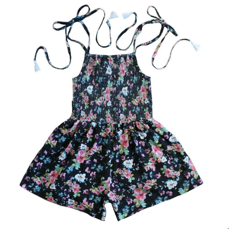 Duke of London Playsuit & Jumpsuit 6 Duke of London Jump Jump - Black Floral