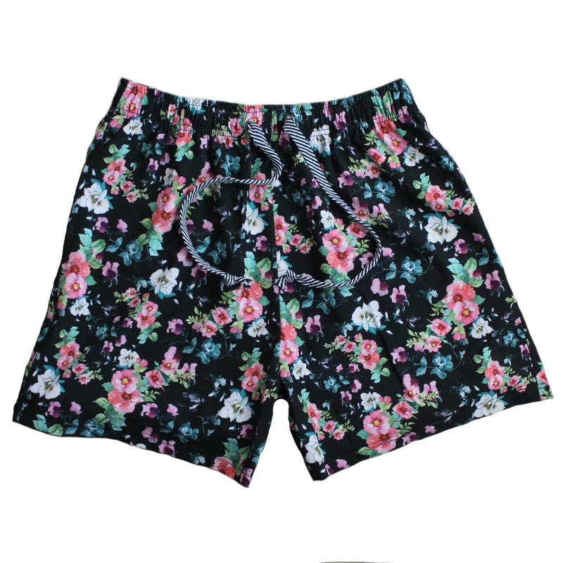 Duke of London Boardies - Black Floral