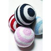Emotion & Kids Rattles Emotion & Kids Pink White Crochet Ball