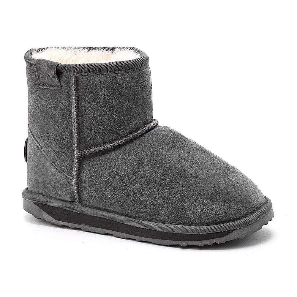 Emu Shoes Emu Wallaby Mini Charcoal