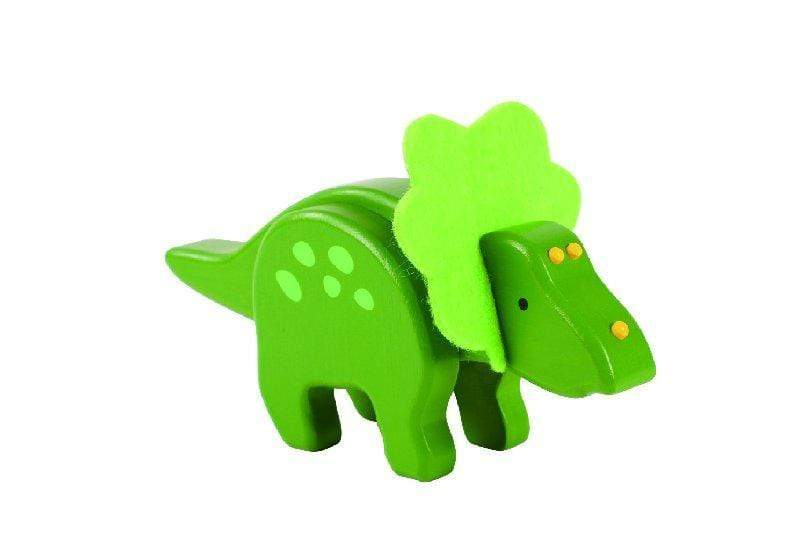 Ever Earth Wooden Toys Ever Earth Bamboo Triceratop Green