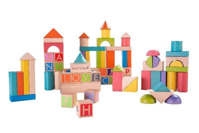 Ever Earth Wooden Toys Ever Earth Build and Learn Block Set