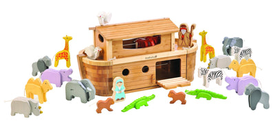 Ever Earth Wooden Toys Ever Earth Large Bamboo Noahs Ark