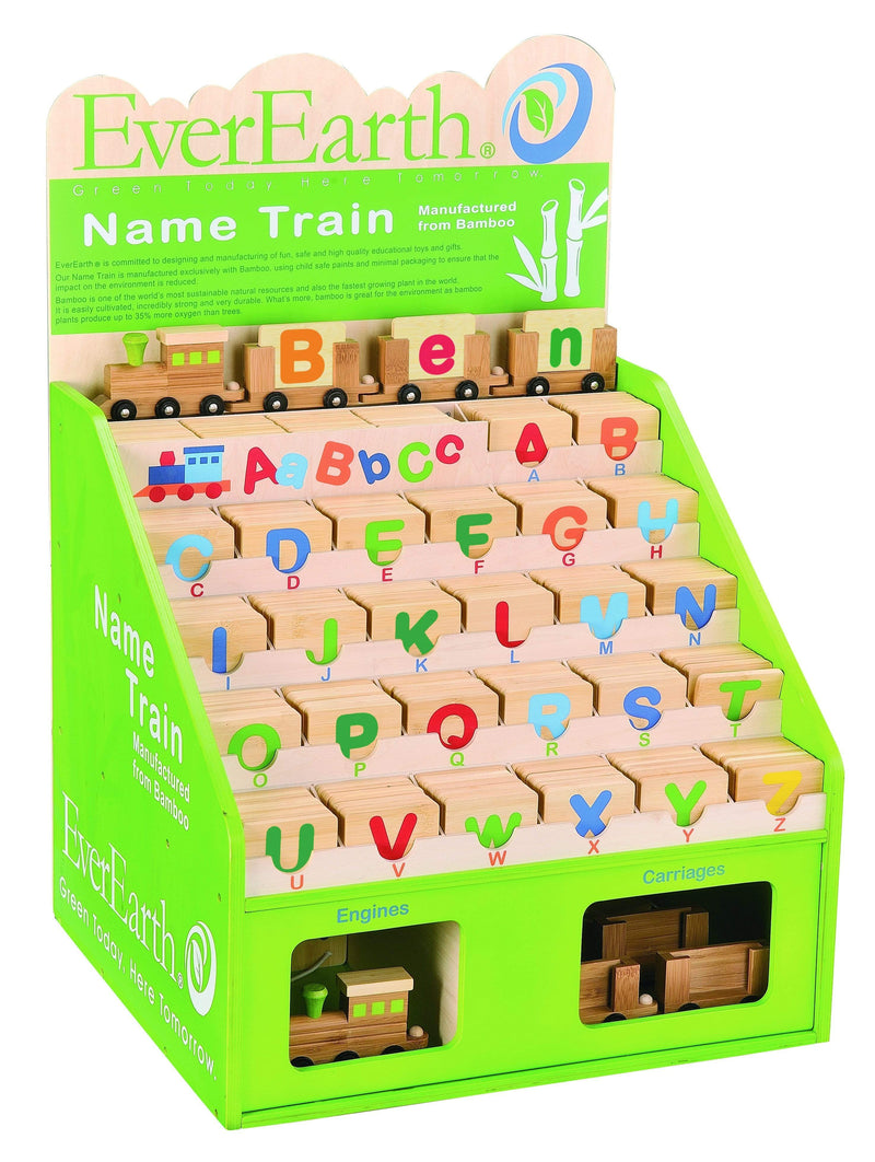 Ever Earth Wooden Toys Ever Earth Name Train Letter Tablet