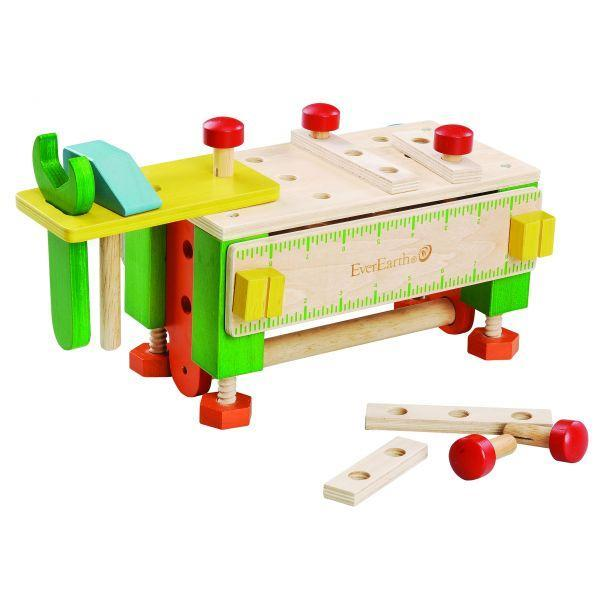 Ever Earth Wooden Toys Ever Earth Tool Box Workbench
