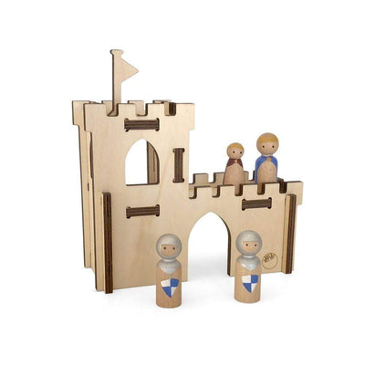 Have a Nice Day Wooden Toys Castle Build and Play Set