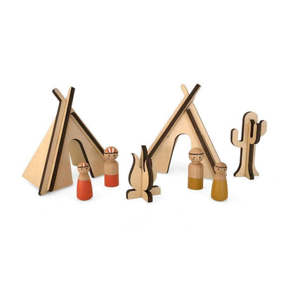 Have a Nice Day Wooden Toys Tribal Build and Play Set