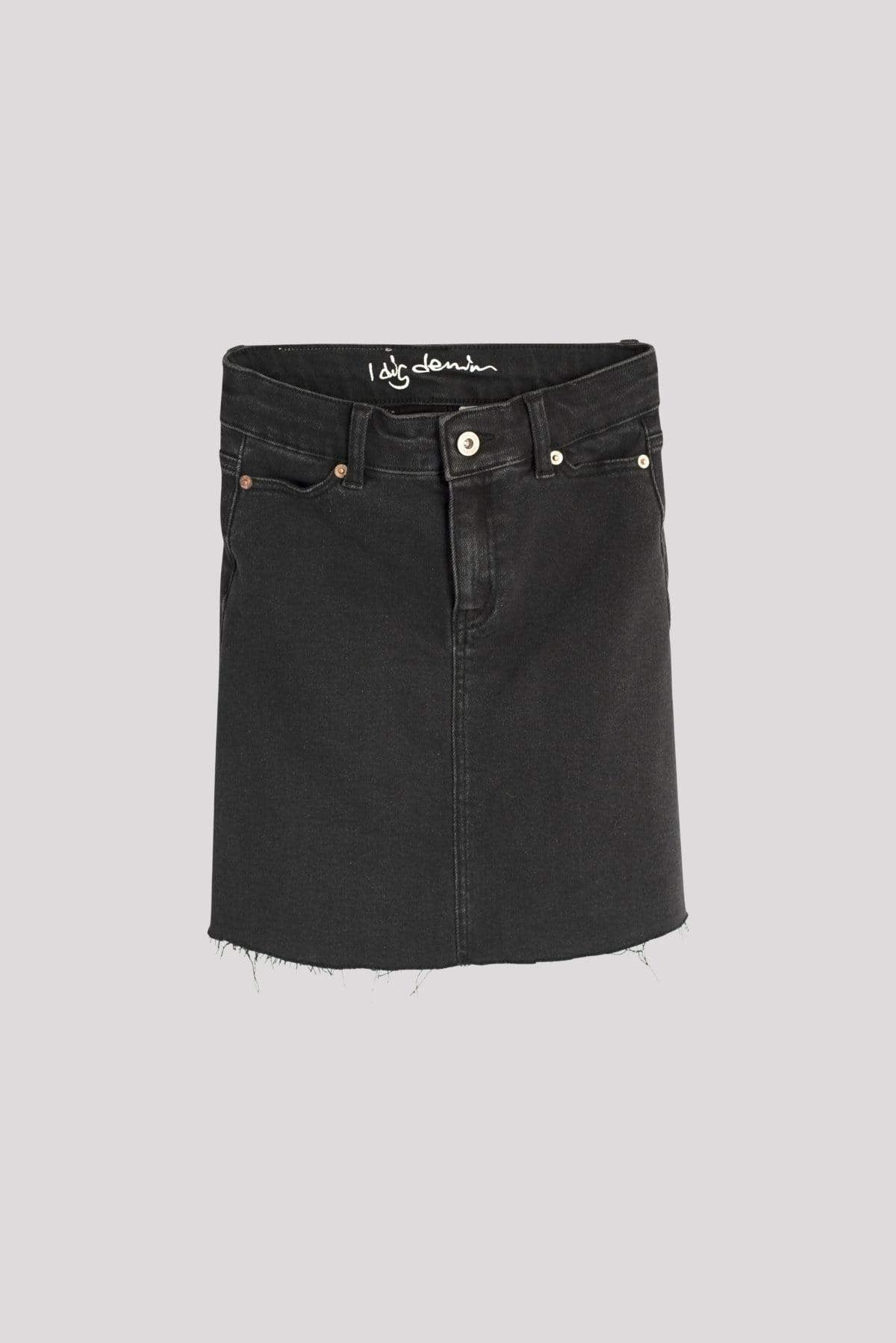 I Dig Denim Bree Denim Skirt - Black