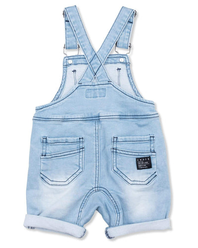 Indie Kids Jeans Indie Kids Styled Short Dungaree Mid Denim