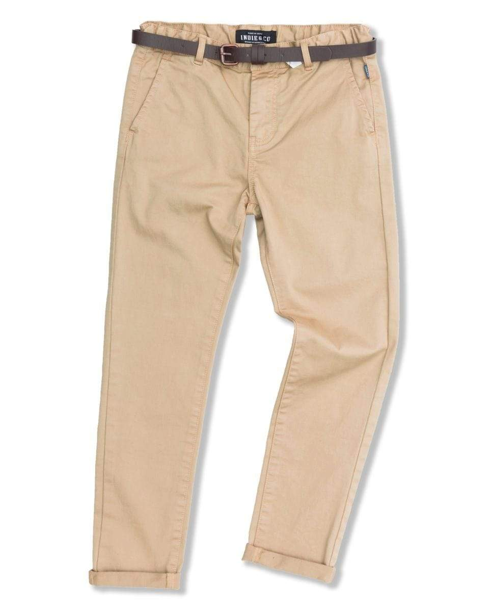 Indie Kids Pants 8 Indie Kids Cuba Stretch Chino Caramel