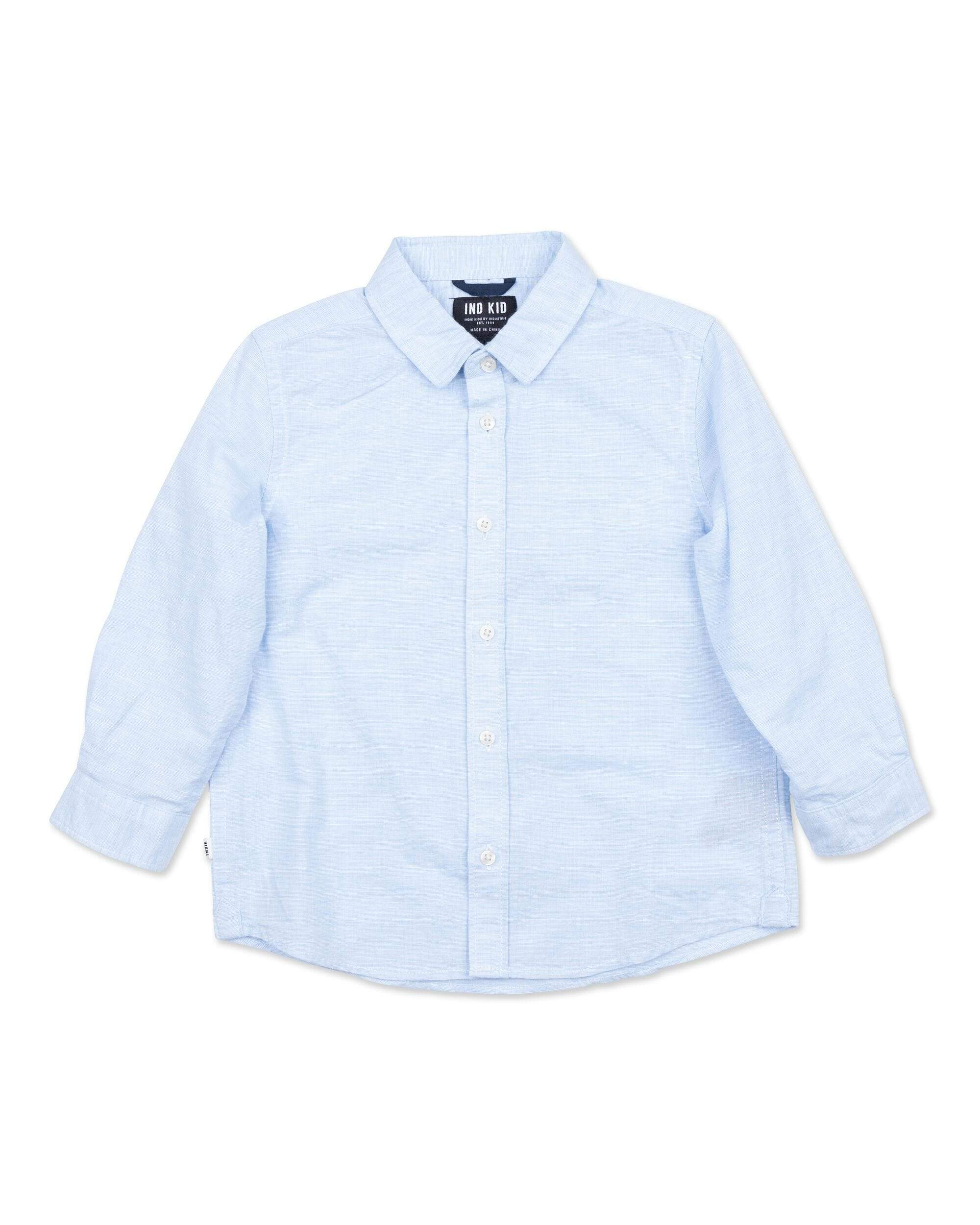 Indie Kids Shirt 00 Indie Kids Rickard LS Shirt Lt Blue