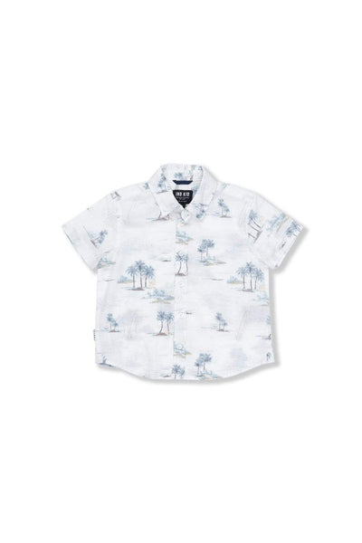 Indie Kids Shirt 8 Hawaiian SS Shirt - Off White