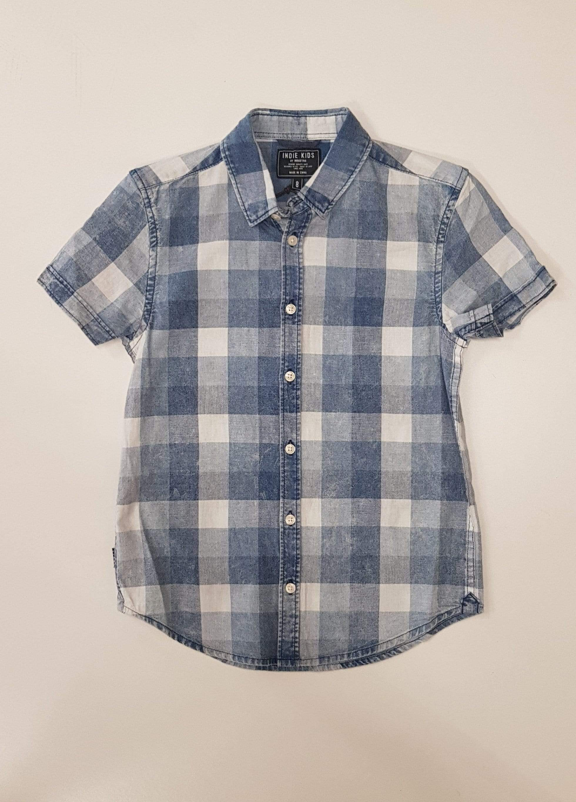 Wirral Check SS Shirt - Blue